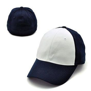 Licensed White And Navy Official One Fit Jock 2 Hat Cap by Top of the World 593876 KO_19_1
