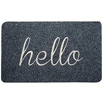 BIGA Front Welcome Entrance Doormat Hello Funny Door Mat for Indoor Outdoor Entry Garage Patio Shoe Rugs