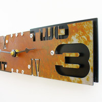 Outnumbered III Modern Wall Clock (Small Rusted) w/ Black Back