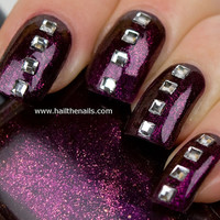 Crystal square Studs Nail Art  This seasons must by Hailthenails