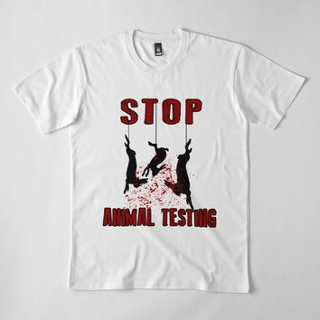'Stop Animal Testing - Rabbits ' Men's Premium T-Shirt by ValentinaHramov