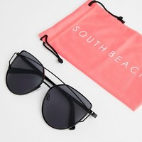 South Beach Cat Eye Sunglasses With Brow Bar at asos.com