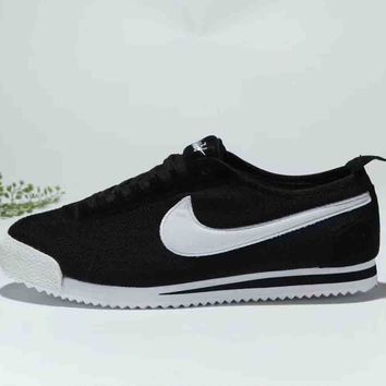 NIKE CORTEZ 72 SI classic retro Agan breathable running shoes F-MLDWX Black