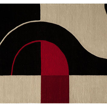 "2'3""x8' Zane Runner, Black, Contemporary Carpet, Contemporary Rugs"