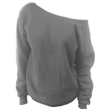 Blank 562 Off-The-Shoulder Sweatshirt XS-XXL