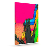 "Oriana Cordero ""Days of Summer"" Rainbow Abstract Canvas Art"