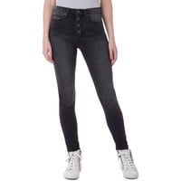 J Jeans by Jordache Juniors' Exposed Button High Waisted Jeggings - Walmart.com