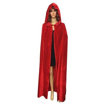 Velvet Capes Hooded Cloaks King Queen Renaissance Vampires Halloween Costume