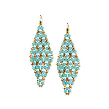 Honey Beaded Drape Earrings - Diane von Furstenberg