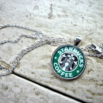 Starbucks Necklace Glass Pendant Ne.. on Luulla