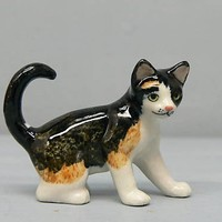 CAT CALICO Kitten on all fours MINIATURE Porcelain New NORTHERN ROSE R314C