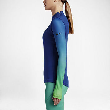 The Nike Pro HyperWarm Women's Long Sleeve Training Top.