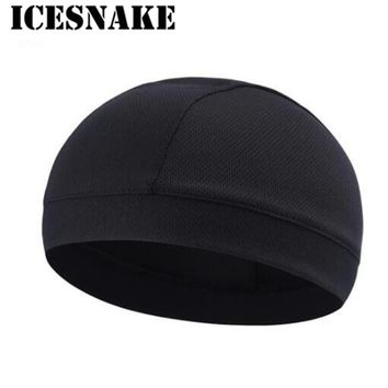 ICESNAKE  Cycling Motorcycle Helmet Hat Face Mask Men Women Breathable Quick Drying Moisture Wicking Helmet Skull Cap