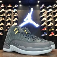 Best Deal Online Nike Air Jordan 12 Retro Dark Grey Men Sneakers 130690-005