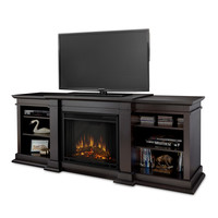Real Flame Fresno Indoor Electric Fireplace Dark Walnut