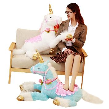 Unicorn Horse Plush Toys Colorful Stuffed Animal Doll for Kids Children Creative Birthday Gift for Girls