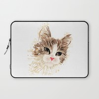 Cat Laptop Sleeve by MaNia Creations