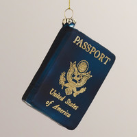 Glass United States Passport  Ornament - World Market