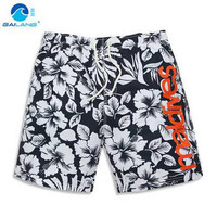 GL Brand Summer New Men Beach Shorts Plus Size Quick Dry Mens Boardshorts Floral Water Sportswear Leisure Man Swim Shorts