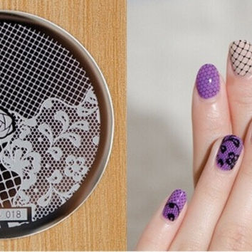 NEW ARRIVED stamping nail art image HeHe series for choosing template stamping nails&tools nail stamp -018 = 5658846081
