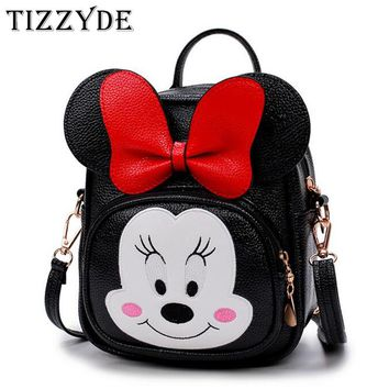 Bowknot Cute Minnie Mickey Children Cartoon School Backpack For 0-3 years old Boys And Girls Lovely Cartoon Schoolbag MAQ52