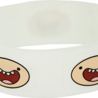 Adventure Time Finn Unisex White Wristband Braclet