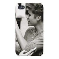 Justin Bieber Phone Case iPhone 4 Case from Zazzle.com