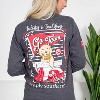 Tailgates & Touchdowns  | Grey | Simply Southern