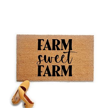Farm Sweet Farm Farmhouse Doormat