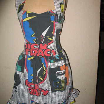 Sale Custom Made to order Dick Tracy SweetHeart Ruffled Halter Mini Dress