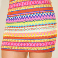 Georgia Sunset Skirt: Multi