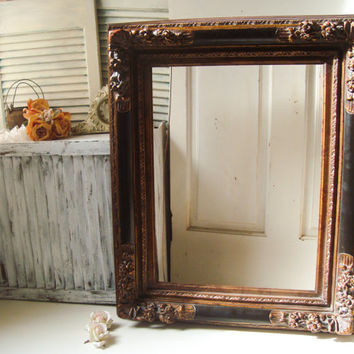 large ornate 18 x 24 frame shabby chic large open frame custom paint color