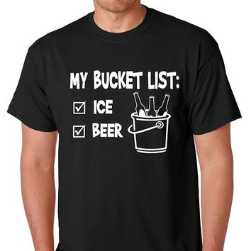 The Bucket List 1 Beer 2 Ice - Funny Beach Party Drinking T-shirt
