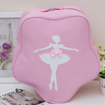 DCCKFV3 Fashion Children Dance Bag Girls Princess Cute Ballet Pink Backpack Care Package with bow