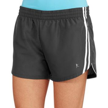 Danskin Now Women's Woven Dolphin Running Shorts with Hidden Liner - Walmart.com