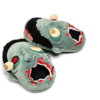 Zombie Plush Slippers Geek Footwear Halloween Shoes One Size Fit EUR 37-42 US 6.5-10