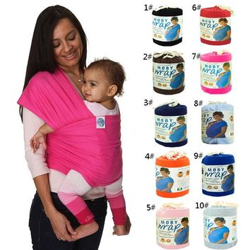 2017 Hot Sale Solid 3-30 Months 20kg Front Carry Four Seasons Multifunctional Baby Sling New Born Elastic Bag Cotton Ring