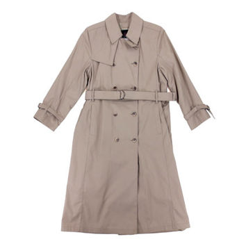 Vintage London Fog Khaki Trench Coat - Rain Coat Outerwear Classic Beige - Women's Size Medium Large Med Lrg M L