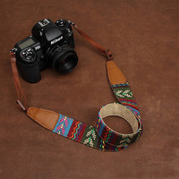DSLR Camera Strap - Nikon Camera Strap - Canon Camera Strap - Leather Camera Strap