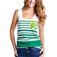 Oregon Ducks Ladies Pocket Tank - Green/White