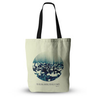 "Ingrid Beddoes ""You Belong"" Teal Circle Everything Tote Bag"