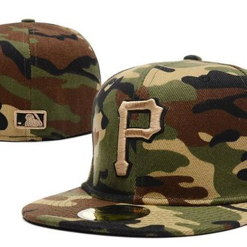 hcxx Pittsburgh Pirates New Era 59FIFTY MLB Cap Camouflage