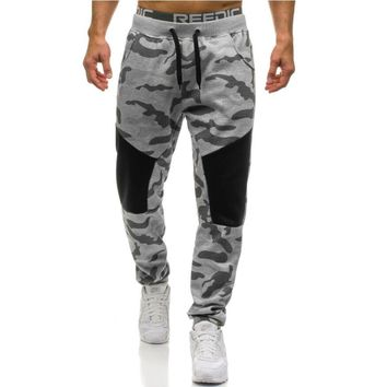Men Casual Pants  Male Brand Straight Trousers Camouflage Long Pants Cotton Sweatpants Jogger Tracksuit Funky Sweatpants