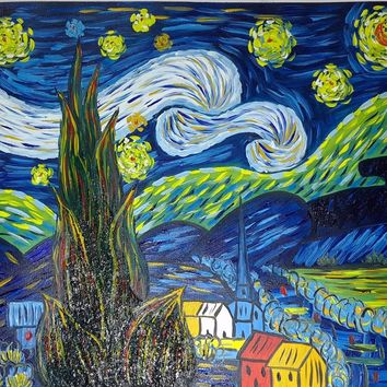Hand-painted Oil Painting On Canvas Van Gogh Starry Night