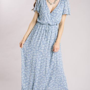 Evelyn Ruffle Hem Floral Maxi Dress