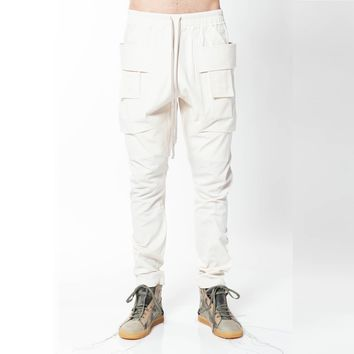 Rick Owens DRKSHDW Creatch Cargo Pant's in Natural