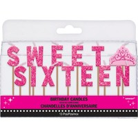 Celebrate Sweet 16 Candle Picks 13ct