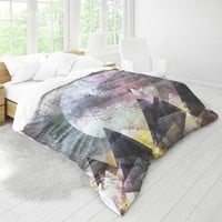 Duvet Cover With Mountain Art Design, Moon Design Duvet, Wanderlust Bed Linen, Bedroom Decor, Dorm Bedding, Home Decor, Original Artwork