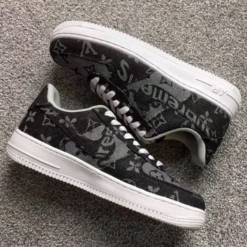 LV × supreme × Nike Air FORCE 1 LOW Fashion casual shoes
