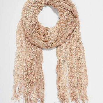 shimmer scarf with open stitching | maurices